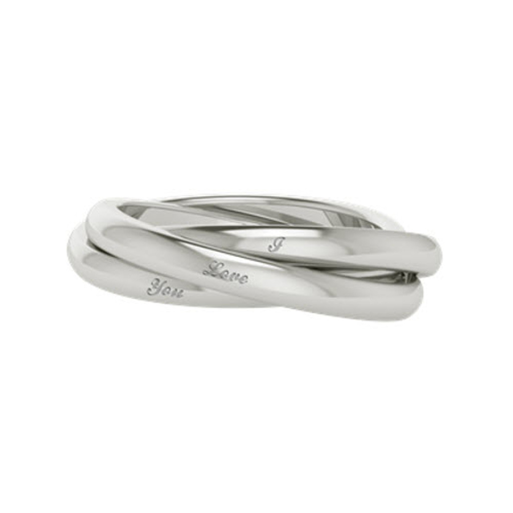 *Russian Wedding Ring - Willow - Sterling Silver