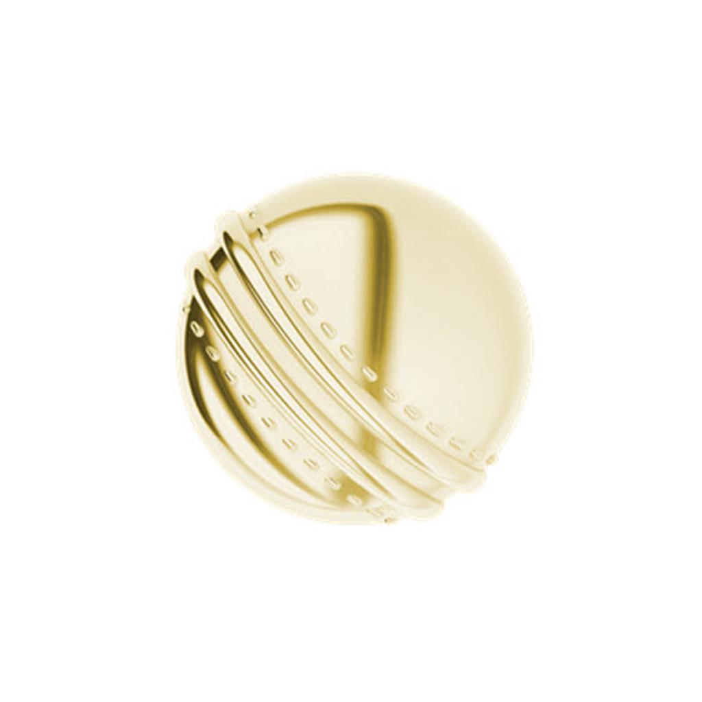 Cricket Ball Yellow Gold Cufflinks