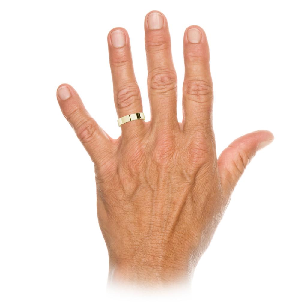 stylerocks-yellow-gold-round-brilliant-cut-blue-sapphire-wedding-ring-on-hand