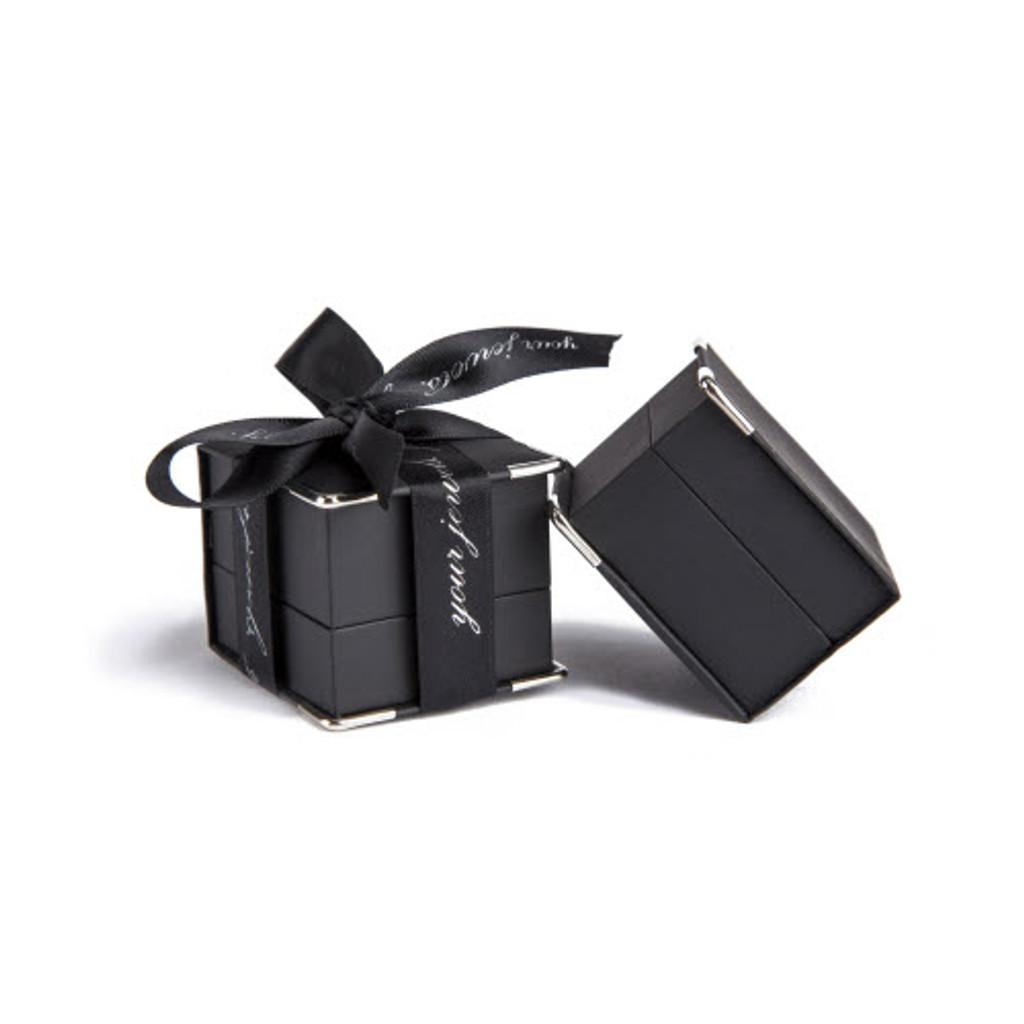 Men's Rectangular Citrine Cufflinks (Silver)