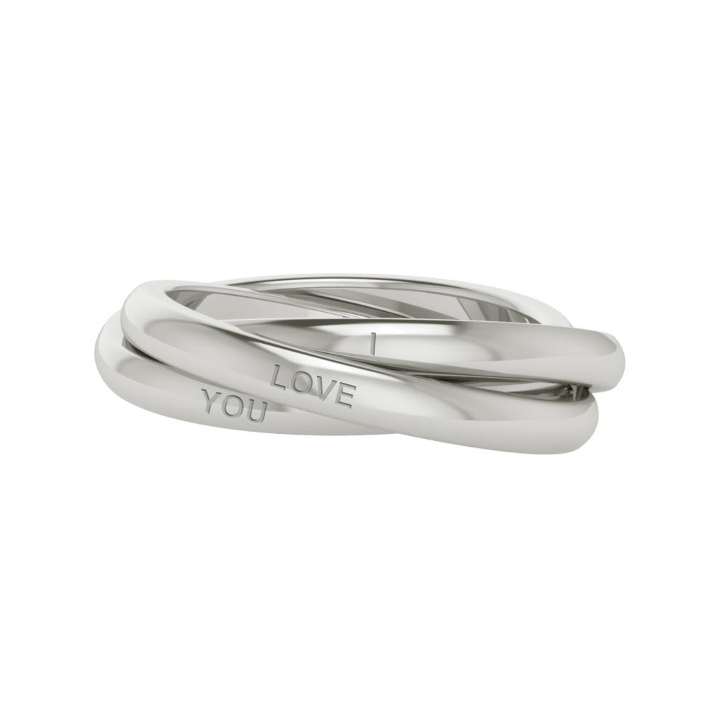 Stylerocks Russian Wedding Ring Willow White Gold Engraved