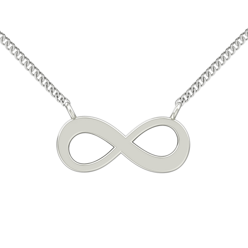 Infinity Necklace - 9ct White Gold