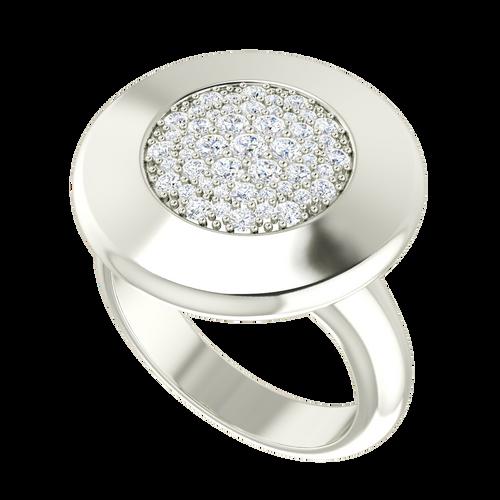 Diamond Raindrops Ring 9 Carat White Gold