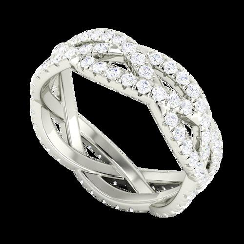 Diamond Woven Ring (Full) 18 Carat White Gold
