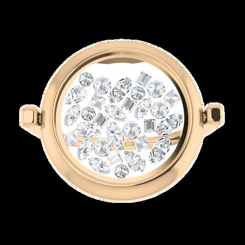 Birthstone Glass Ring 9 Carat Rose Gold