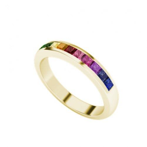 Rainbow Ring 9ct Yellow Gold