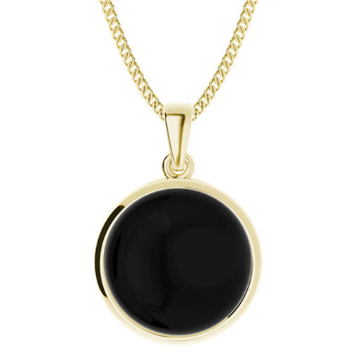 Onyx Yellow Gold-Plate Pendant