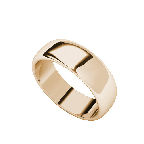 Wedding Ring with Round Profile 9ct Rose Gold