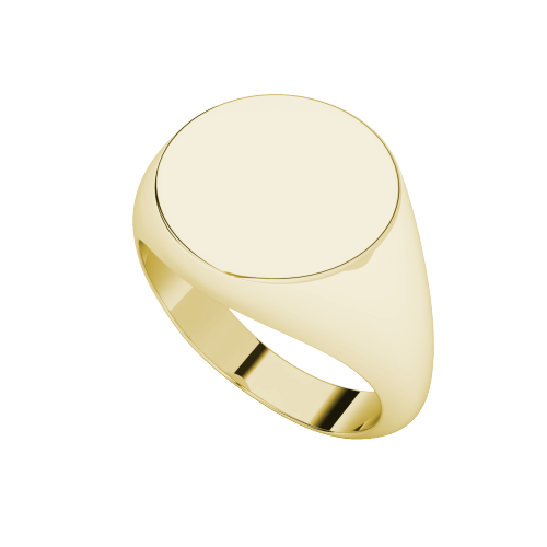 Oval Signet Ring 9ct Yellow Gold