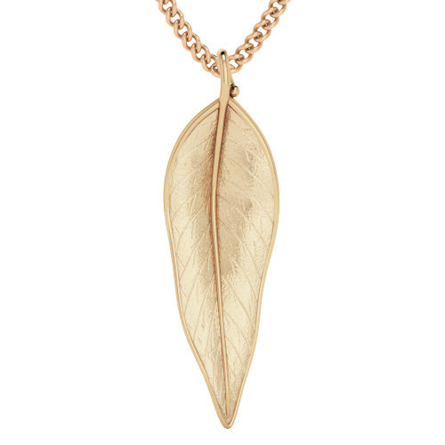Terre-Et-Mer Leaf Necklace Rose Goldplate