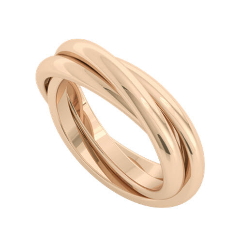 Russian Wedding Ring - Willow - 9ct Rose Gold