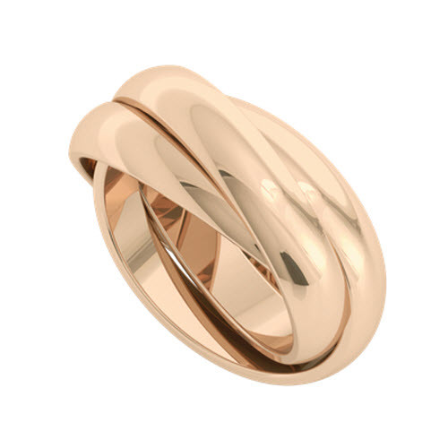 Russian Wedding Ring - Juno 9ct Rose Gold