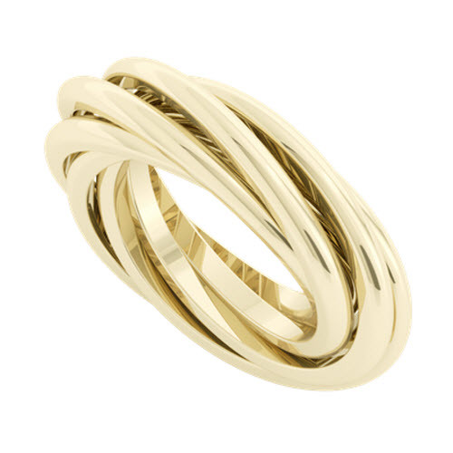 Double Russian Wedding Ring - Gemelle 9ct Yellow Gold