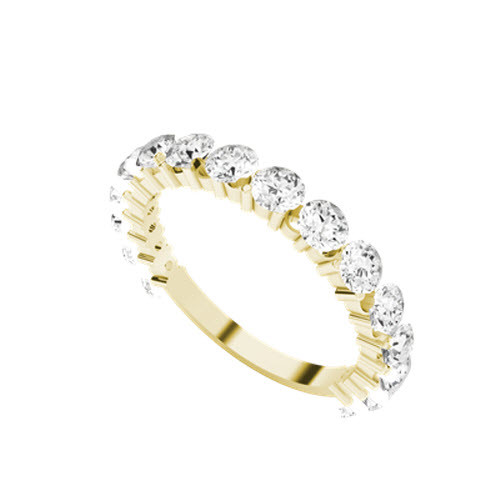 Round Brilliant Cut Diamond 9ct Yellow Gold Wedding Eternity Ring