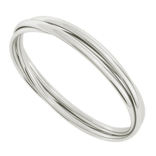 Russian Bangle - The 'Diana' Sterling Silver