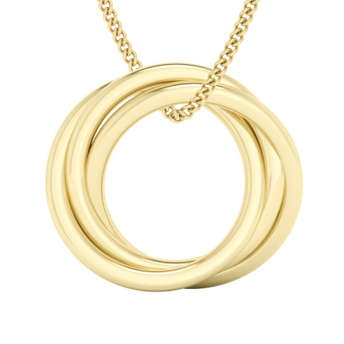 Russian Ring Necklace - The 'Charlotte' 9ct Yellow Gold