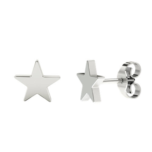 Star Stud Silver Earrings