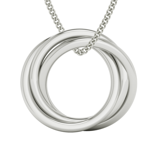 Russian Ring Necklace - 'Charlotte' 9ct White Gold