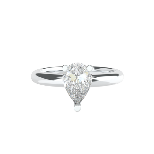 Pear Shaped Solitaire 14ct White Gold Engagement Ring - 'Ravenna'