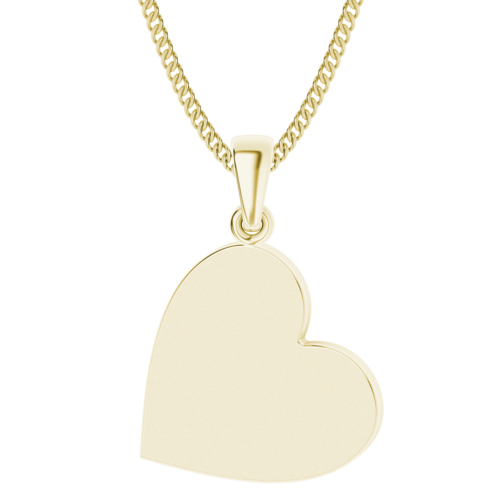 Heart Pendant 9ct Yellow Gold