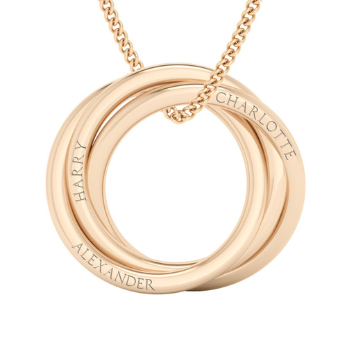 Russian Ring Necklace - The 'Charlotte' 9ct Rose Gold