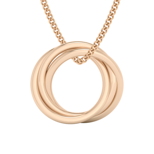 Russian Ring Necklace - the 'Zan' 9ct Rose Gold
