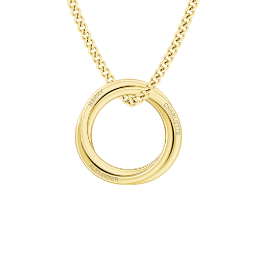 Russian Ring Necklace - the 'Zara' 9ct Yellow Gold