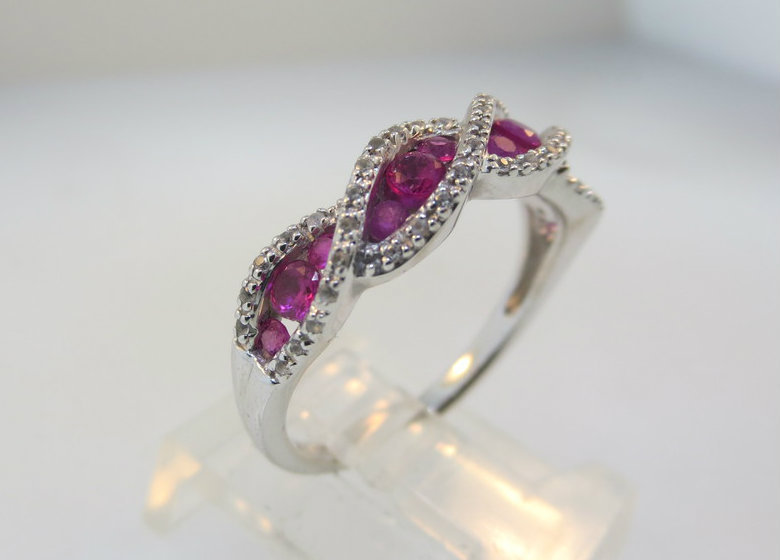 White Gold Ruby Band