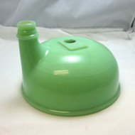 Vintage Green Jadeite Uranium Glass Juicer Funnel Attachment for Mixing Bowl