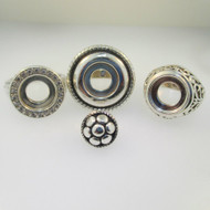 Sterling Silver Kameleon Jewel Pop Lot of Three Rings Size 8 with Jewel Pop