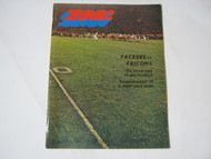 1970 NFL Pro Program Green Bay Packers vs Atlanta Falcons