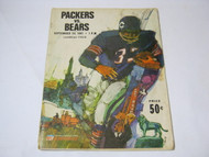 Packers vs. Bears Sept 24 1967 Program Lambeau Field