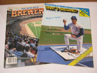Milwaukee Brewers 1984 Yearbook & 1987 What's Brewing Mag