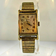 Vintage Elgin 19 Jewels 10k Yellow Gold Filled and Stainless Steel Watch (B2306)