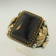 Sterling Silver Carolyn Pollack Relios Black Onyx Ring Size 10.75