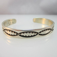 Sterling Silver Signed Emerson Southwest Style Cuff Bracelet