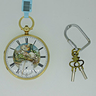 Antique 1871 Husc and Sons English Lever Fusee Chronometer 18k Gold Pocket Watch (B2319)