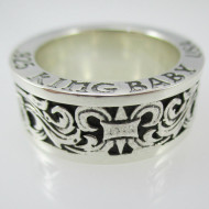 Sterling Silver 925 King Baby USA Ring Size 10 3/4