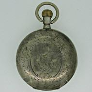 Antique Remontoir Ancre Ligne Droite Swiss 800 Silver Pocket Watch Parts Steampunk (B2327)