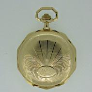 Antique La Maisonnette French 14k Gold Pocket Watch (B2349)