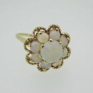 10k Yellow Gold  Genuine Opal Fashion Ring Size 4 3/4