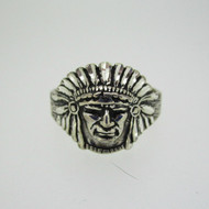 Wheeler Native American Chief Ring Size 12 3/4