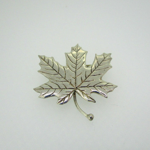Sterling Silver Maple Leaf Pin Brooch