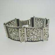 """Sterling Silver Israel Floral 6 """" Bracelet"""