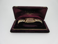 Vintage Bulova 7AK 14k Solid Rose Gold Watch with Original Box (B2366)