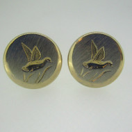 Gold Tone Swank Duck Matte Finish Cufflinks