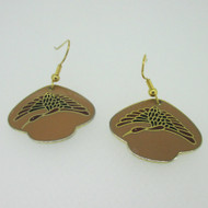 Gold Tone Bird Enamel Laurel Burch Earrings
