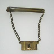 """Gold Tone Initial """"A"""" Tie Clip"""