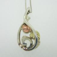 Sterling Silver & 12K Black Hills Gold Coleman Co Necklace