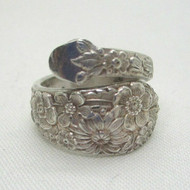 Sterling Silver Spoon Wrap Expandable Ring